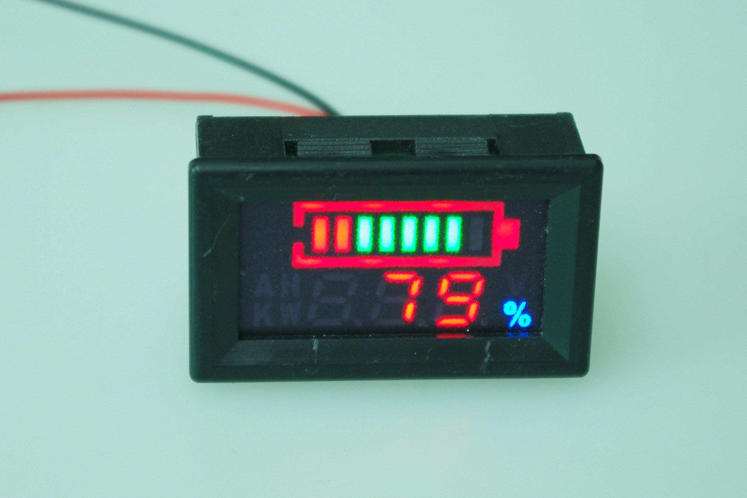SMAKN DC 12v 24V 36V 48V 60V 72V 96V Acid lead batteries percentage capacity indicator LED Tester voltmeter With TTL OUTPUT by SMAKN (Image #3)