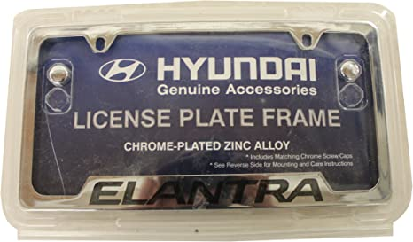 Genuine Hyundai Accessories 00402-31916 Chrome License Plate Frame for Hyundai Sonata//Hyundai Sonata Hybrid