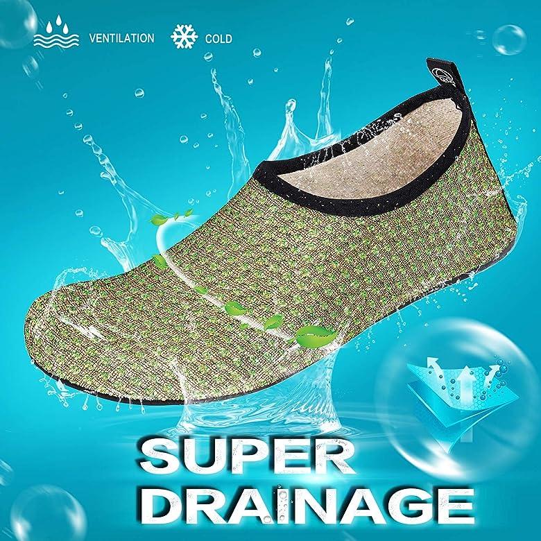 Barefoot Quick-Dry Aqua Water Socks Slip-on Swim Beach Shoes for Snorkeling Surfing Kayaking Beach Walking Yoga Black JOTO Water Shoes for Women Men Kids