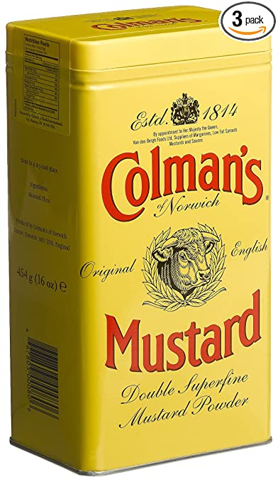 Colman's Mustard Powder, 16-Ounce Cans (Pack of 3)