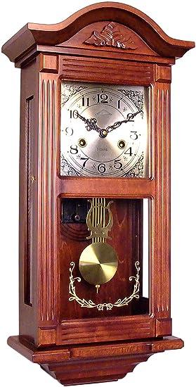 72047 Reloj a péndulo de madera de pared con movimiento mecánico carga 31 Días: Amazon.es: Relojes