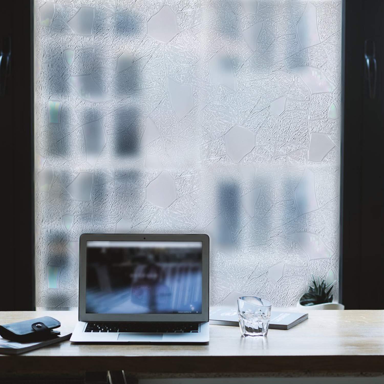 Alternating Glass Texture Window Film Privacy No Residue .3, 23.5 x 78 23.5 x 78 Pulse Vinyl Peel And Stick Indoor Outdoor Decorative Home Bathroom Shower Living Room Business Office Meeting Room Glass Door Film