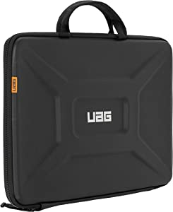 "URBAN ARMOR GEAR UAG Large Sleeve with Carrying Handle for 15"" Devices Black Rugged Tactile Grip Weatherproof Protective Slim Secure Laptop/Tablet Sleeve"