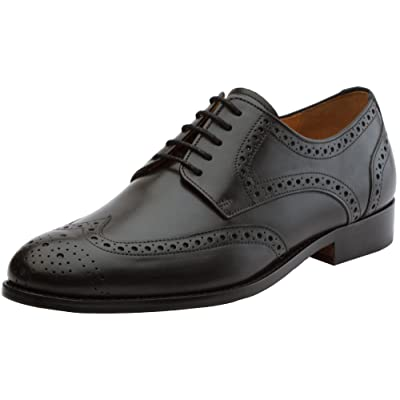 3DM Lifestyle Men's Classic Brogue Derby Wing-tip Lace Up Leather Lined Perforated Dress Oxford Shoes | Oxfords