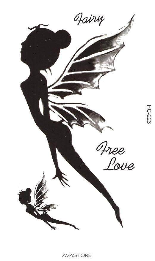 Tatuaje Temporal Hada Free Love - Tatuaje efímero hada Free Love ...