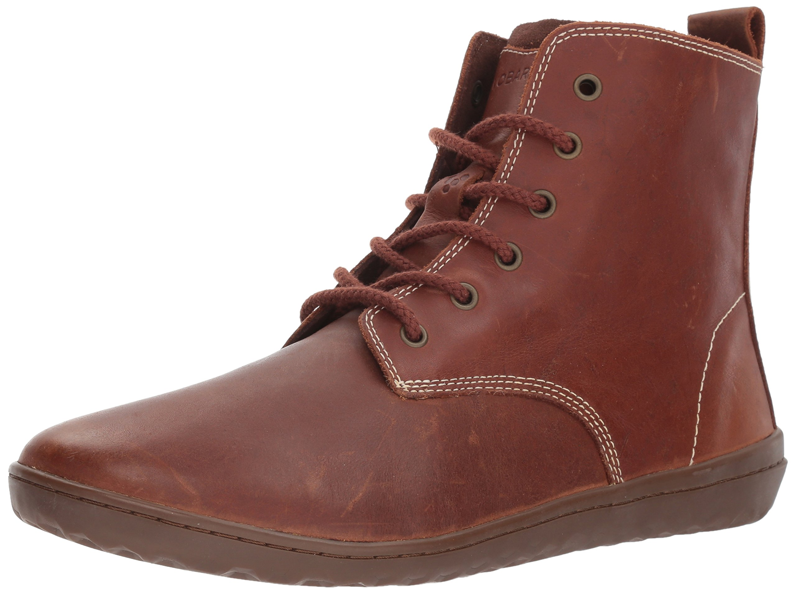 Vivobarefoot Men's Scott Casual Lace up Thermal Winter Boot, Tobacco, 47 D EU (13 US)