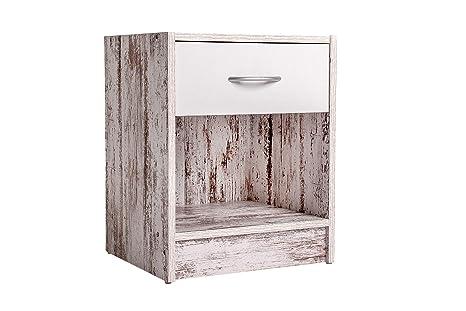 Cassettiera Camera Letto : Comodino camera da letto moderno in legno cassettiera con un