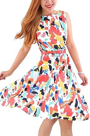 Kleid knielang bunt