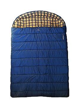 Ledge Cornisa Deportes Alaska + 0 F Grado Doble Ancho Saco de Dormir (96 x 72, tamaño King, Color Azul): Amazon.es: Deportes y aire libre