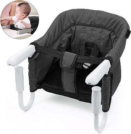 Mesa Asiento de mesa para bebé – plegable Trona de Viaje Arnés de ...