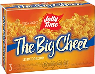 product image for Jolly Time The Big Cheez Cheddar Cheese Microwave Popcorn, 3-Count Boxes (Pack of 12)