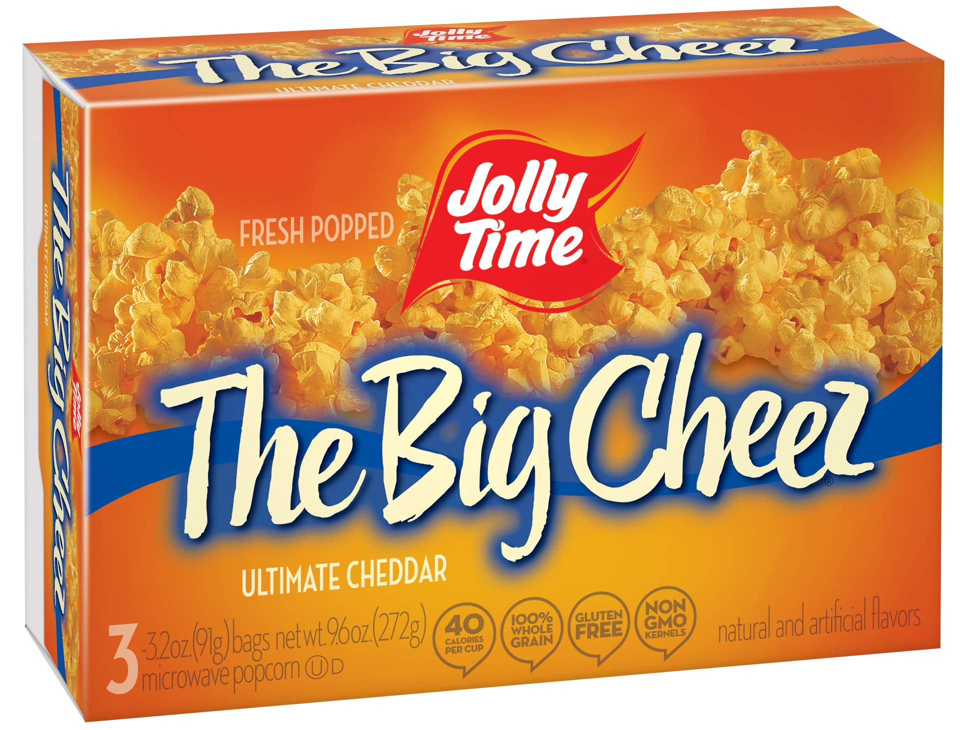 Jolly Time The Big Cheez Cheddar Cheese Microwave Popcorn, 3 Count (Pack of 12) by Jolly Time