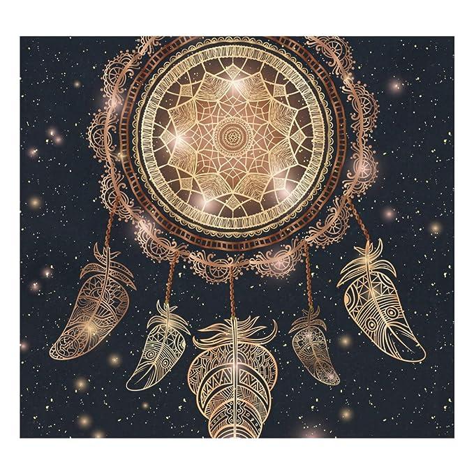 jstel talismán Atrapasueños con plumas de Magic Mandala aislado al vacío THERMOS botella de agua de acero inoxidable a prueba de fugas aislado al vacío ...