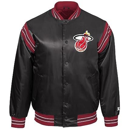 877ad1e68d6 Amazon.com   STARTER NBA Youth Boys The Enforcer Retro Satin Jacket ...