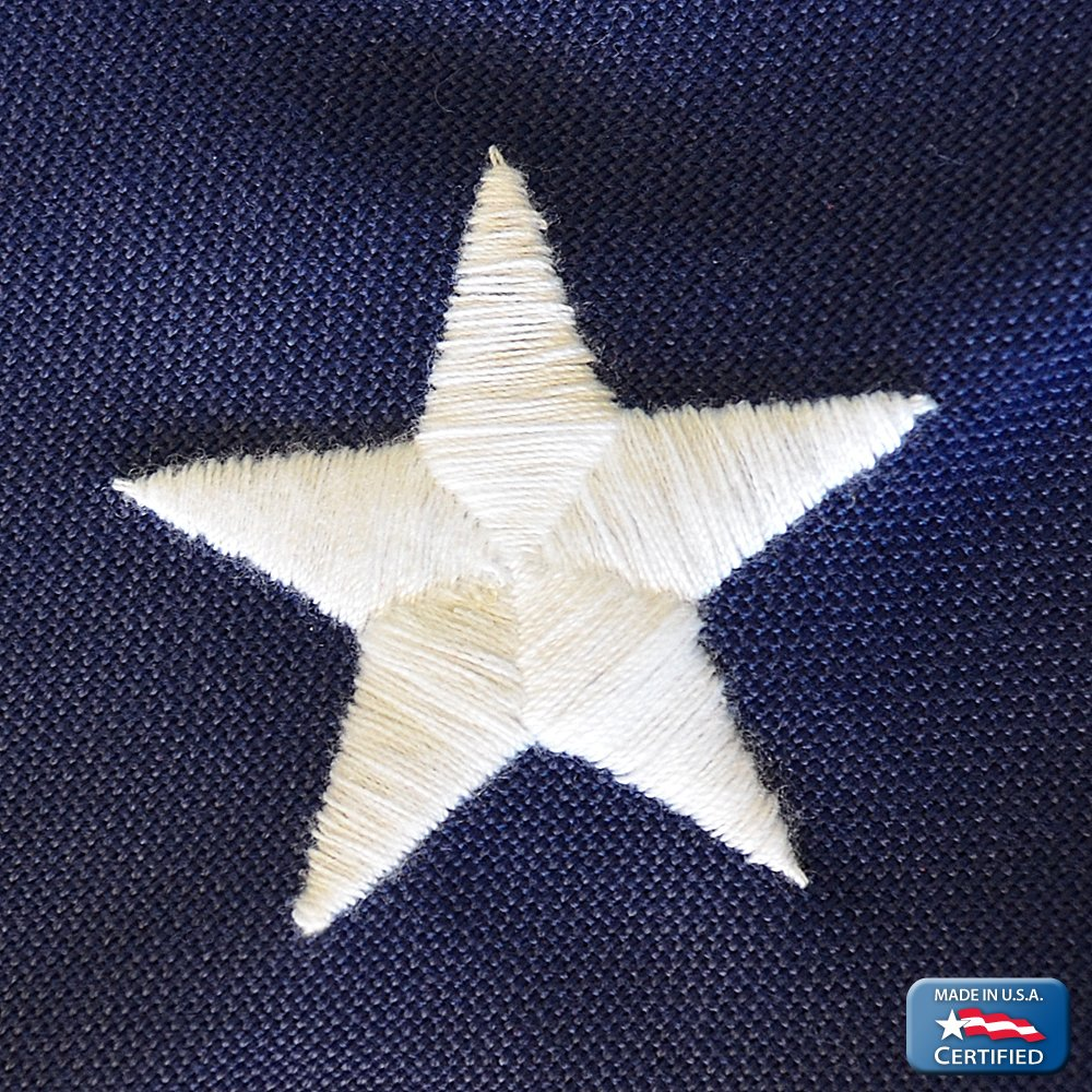 Annin Flagmakers Model 2720 American Flag Tough-Tex the Strongest, Longest Lasting 4x6 ft. 100% Made in USA with Sewn Stripes, Embroidered Stars and Brass Grommets by Annin Flagmakers (Image #5)