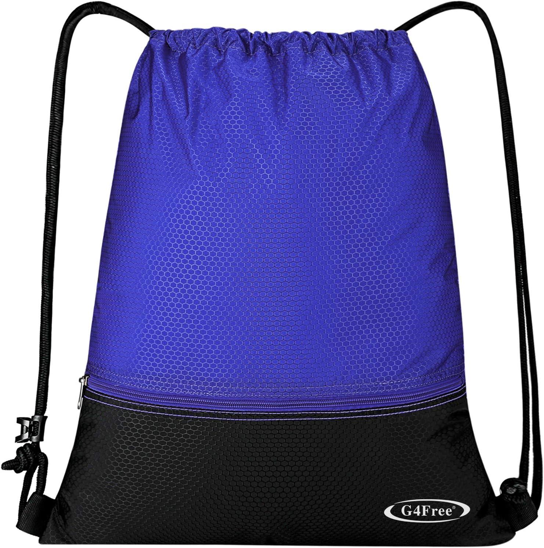 G4Free Sac /à Cordon de Sport Sac /à Dos de Voyage Impermeable Ultra-L/éger pour Yoga Gym Natation Camping Ecole