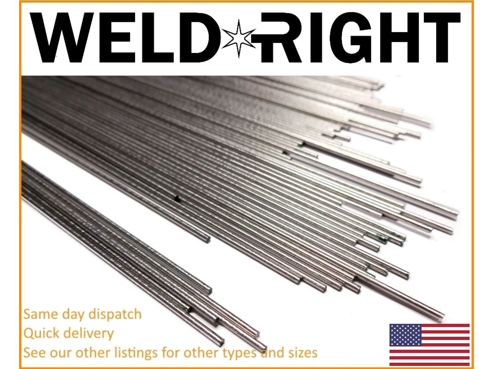 Weld Right Stainless Steel ER316L SS Tig Filler Welding Rods 1/8's - 3.2mm x 1,2,5,10lbs - 13 inches in length by Weldright