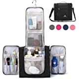 Large Hanging Travel Toiletry Bag for Men and Women Waterproof Makeup Organizer Bag wash bag Shaving Kit Cosmetic Bag for Accessories, Shampoo,Bathroom Shower, Personal Items Black