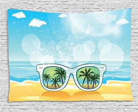 ABAKUHAUS Tropical Tapiz de Pared, Reflexión del Árbol Gafas ...