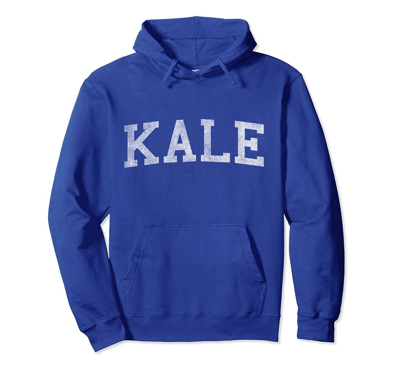 Vintage Kale University Funny Vegan Pullover Hoodie-TH