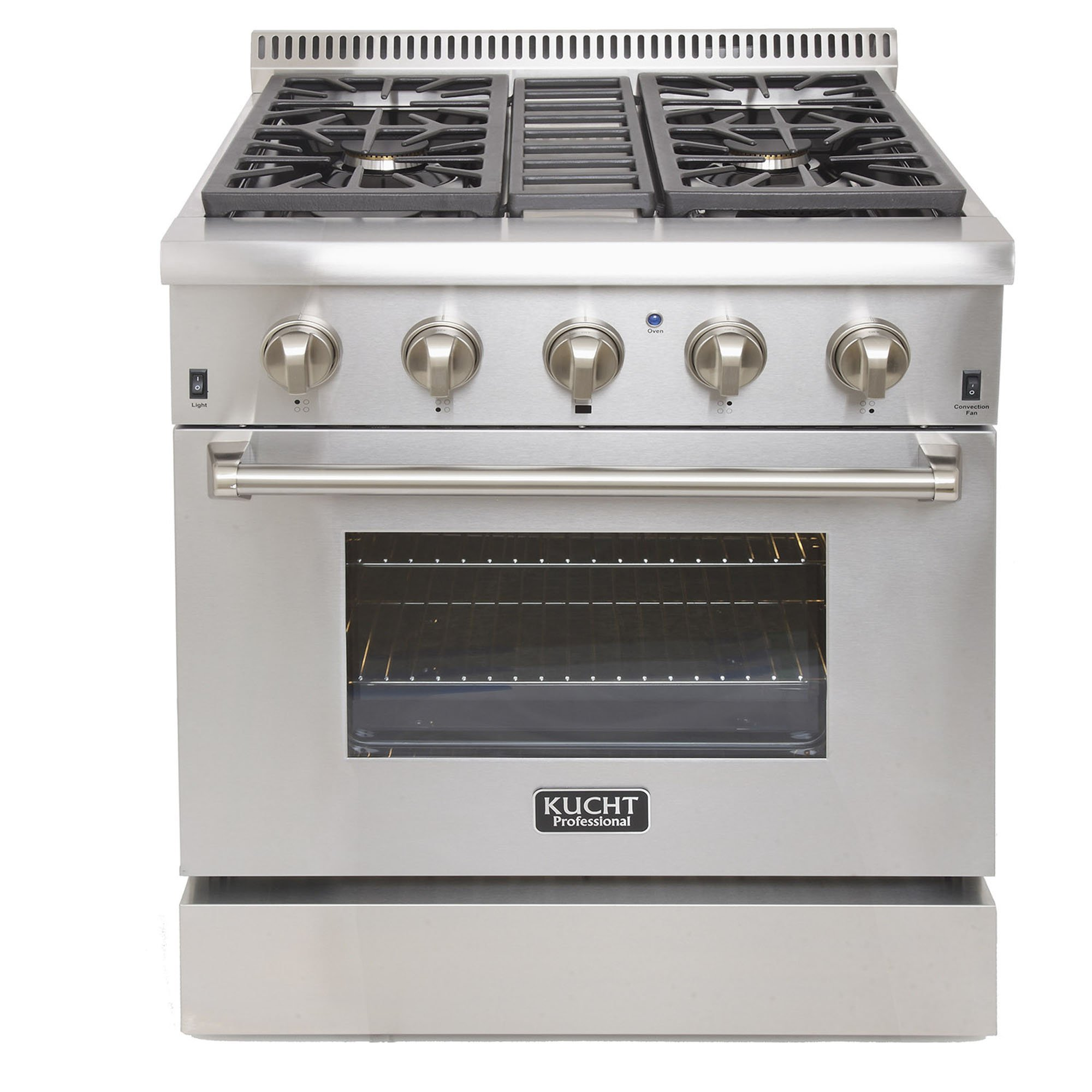 Kucht KRD306F Professional 30'' 4.2 cu. ft. Dual Fuel Range for Natural Gas, Stainless-Steel