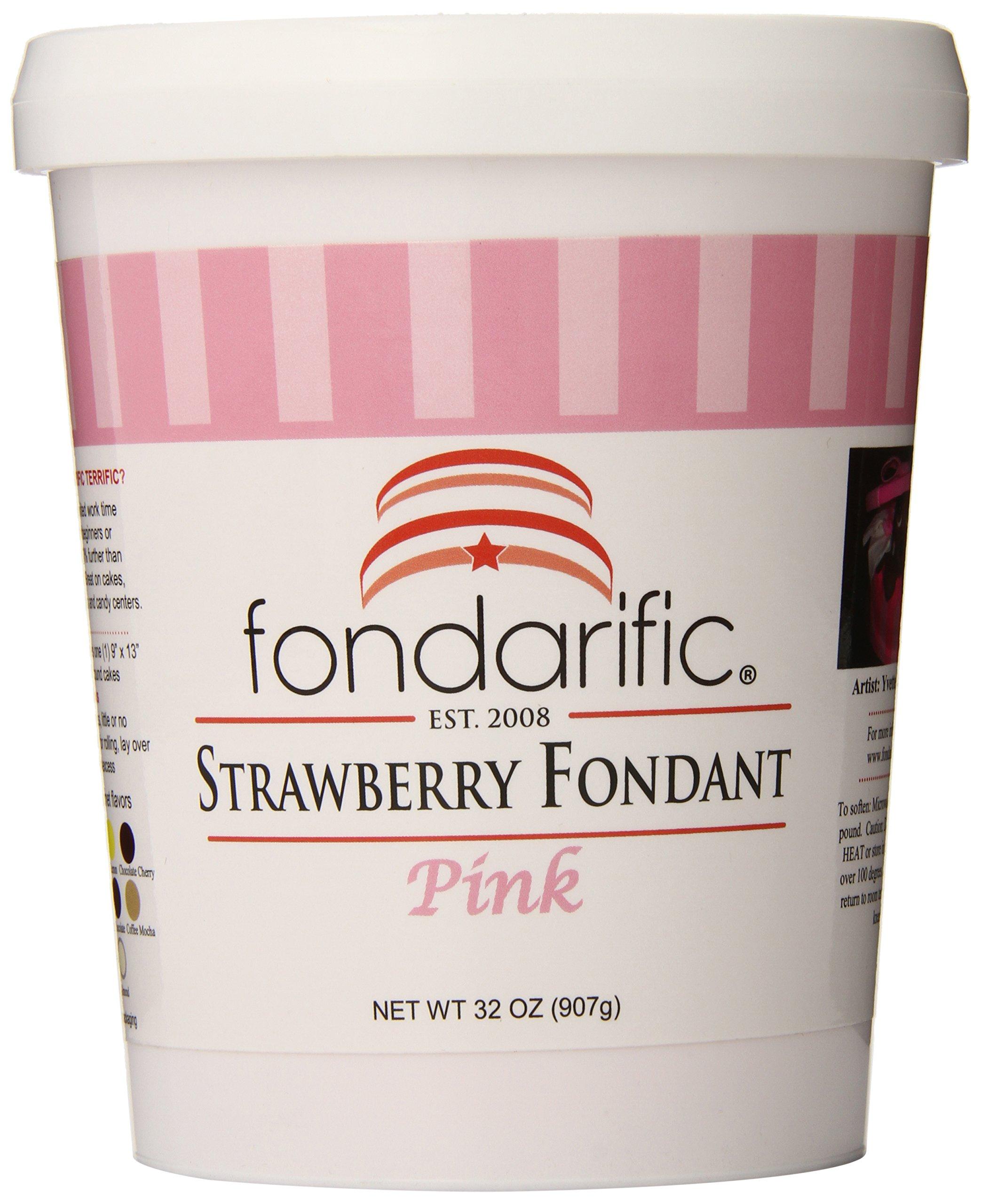 Fondarific Strawberry Fondant, 2-Pounds