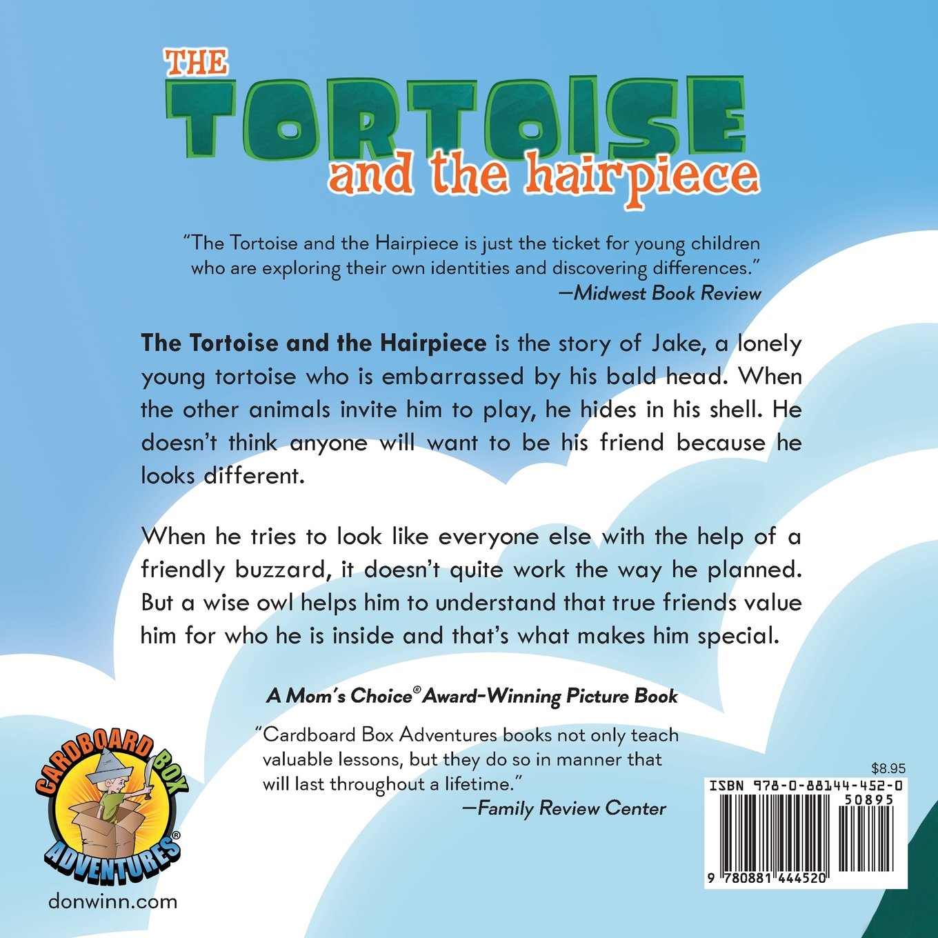The Tortoise And The Hairpiece: A Kids Book About How To Make A Friend And  Build Self Esteem And Confidence: Don M Winn: 9780881444520: Amazon:  Books