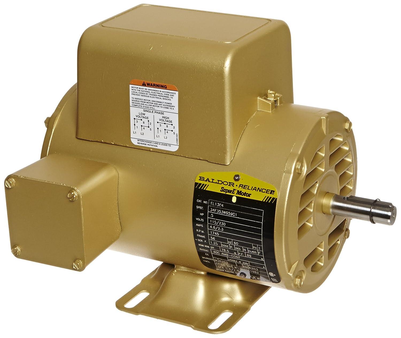 Baldor El1304 Premium Efficient Ac Motor Single Phase 56 Frame High Voltage And Low Wiring Open Enclosure 1 2hp Output 1745rpm 60hz 115 230v Electric Motors
