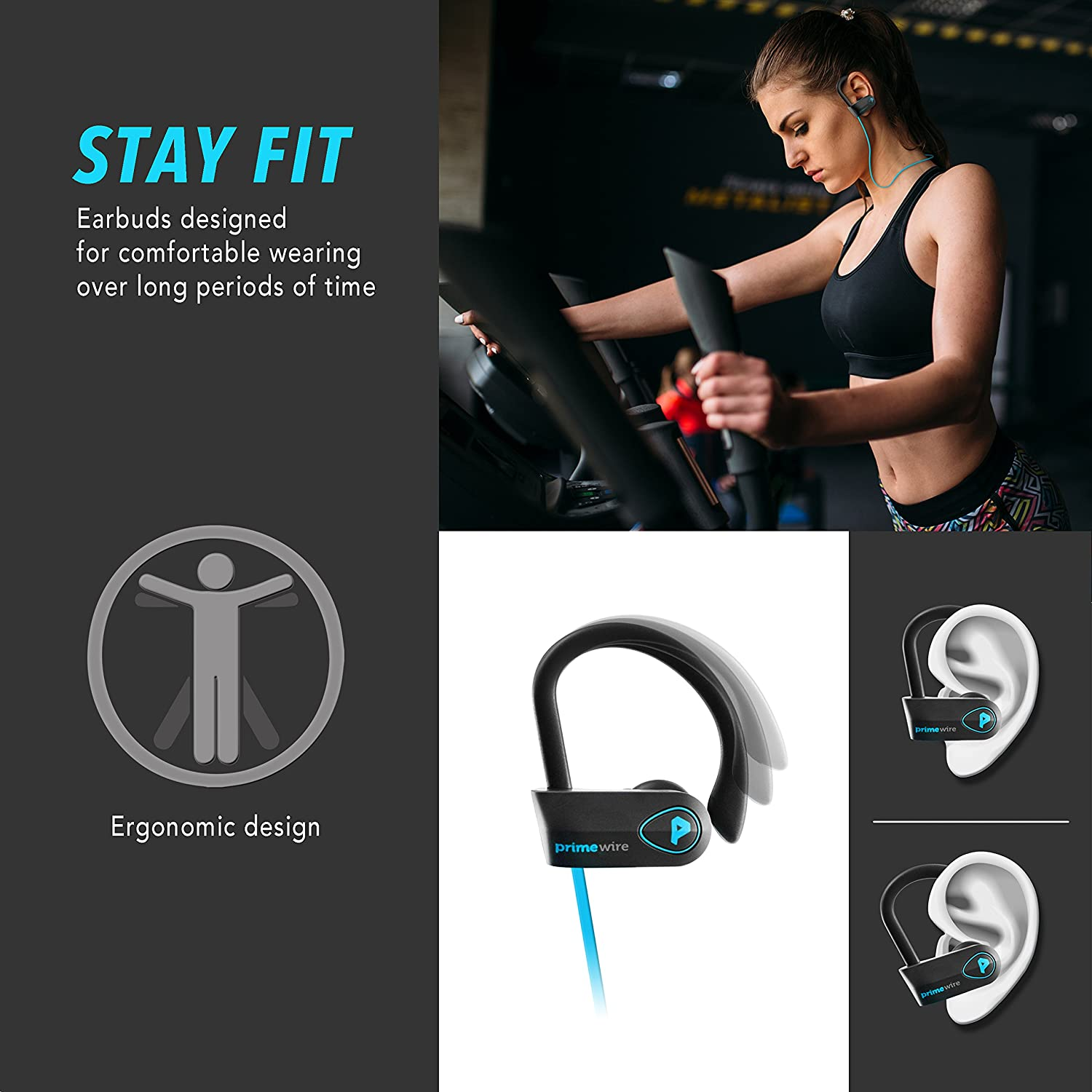 Amazon.com: PrimeWire Powerbuds Bluetooth Earbuds, The Best Wireless ...