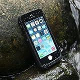 Levin Coque iPhone 5/5S/SE Imperméable Deux Mètre sous l'eau étanche Anti-Choc Anti-Neige Pare-Poussière / Housse Etui Durable Pleine Protection Cacheté pour iPhone 5 5S SE (Noire)