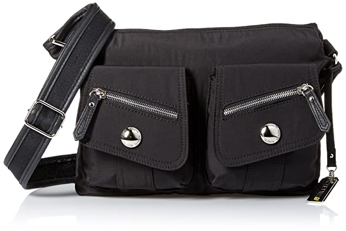 Rosetti Two Pockets Large Cross Body, Black, One Size