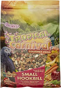 F.M. Brown's Tropical Carnival, Gourmet Bird Food for Parrots, African Greys, and Conures Under 13