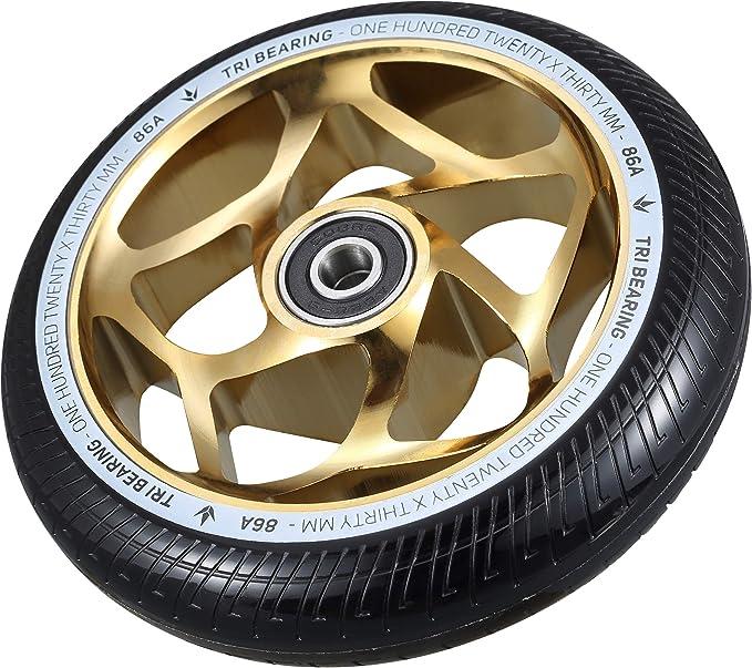 Gold//Black Blunt Envy Tri Bearing Scooter Wheel 120mm x 30mm