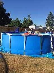 Steel pro 18 39 x 48 frame pool set patio - Intex pools 12x48 ...