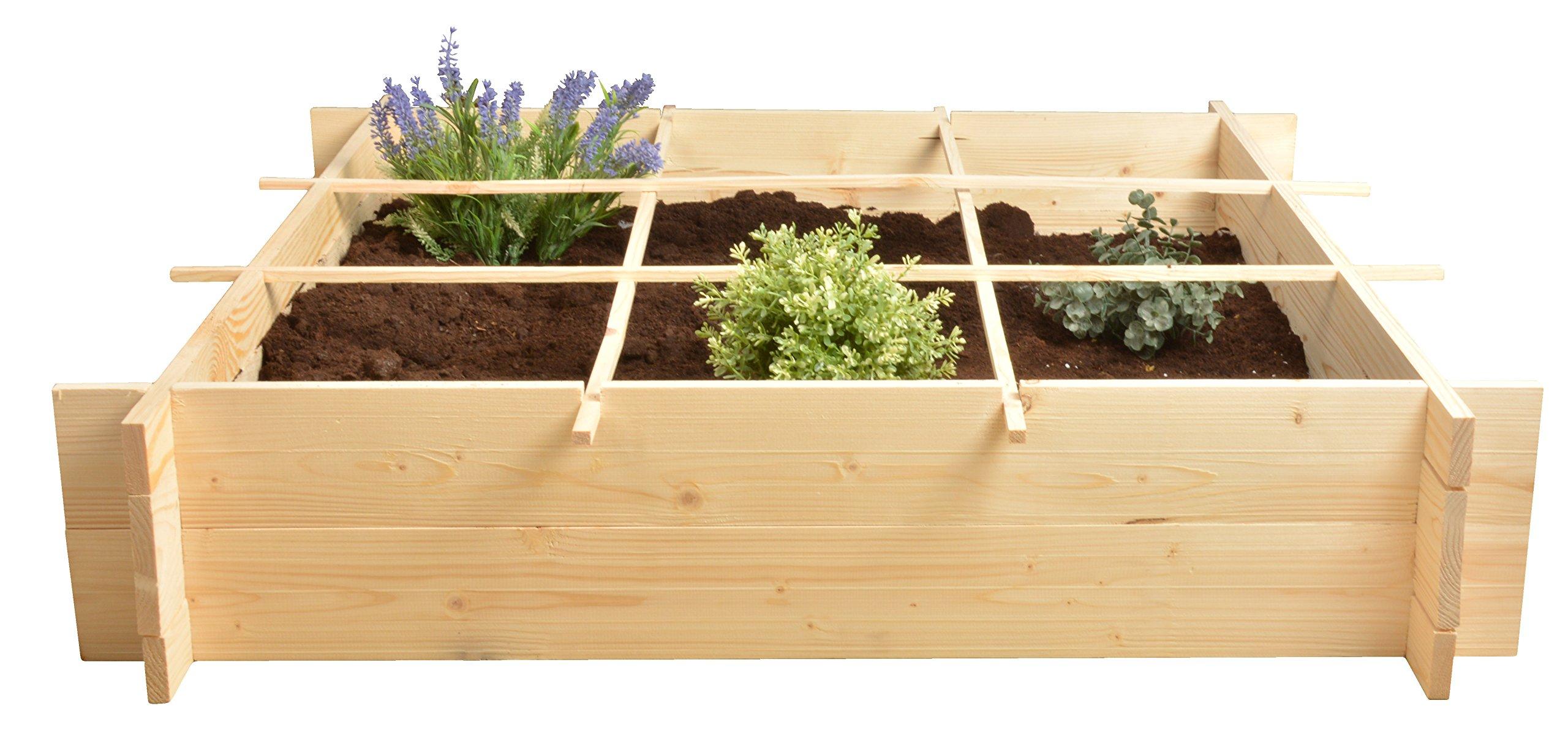 Esschert Design B1012 Wooden Square Meter Garden