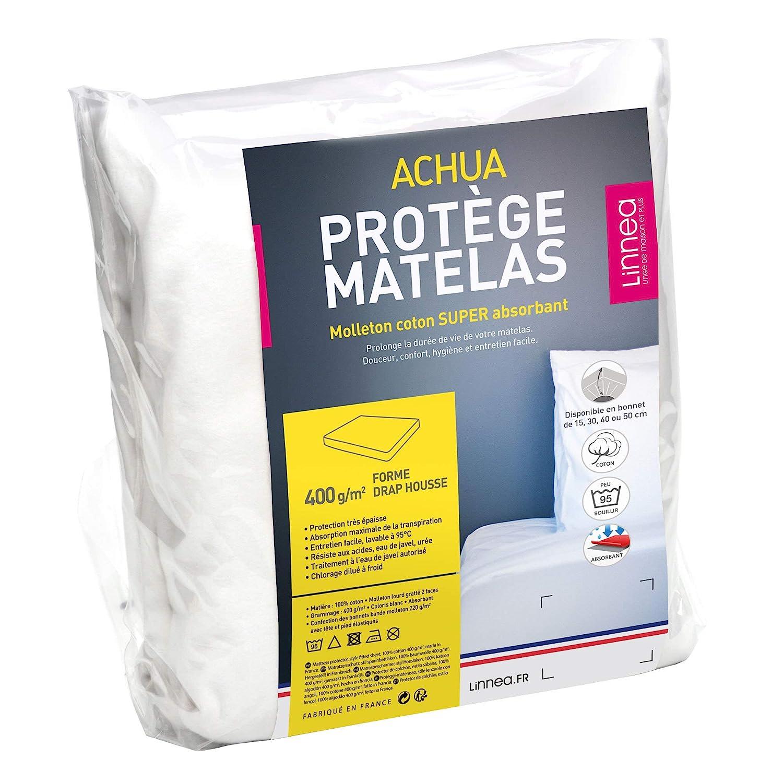Protege Matelas 180x200 Cm Achille Molleton 100 Coton 400 G M2
