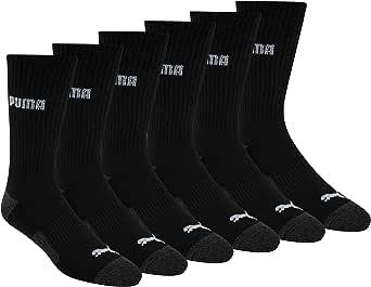 PUMA mens 6 Pack Crew Socks