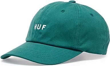 HUF Gorra de béisbol Original Logo Visera Curvada Verde Azulado ...