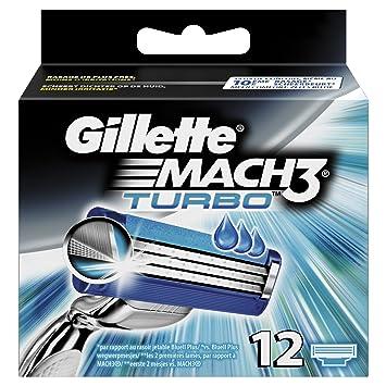 Gillette Mach3 Turbo Cuchillas de afeitar para hombre: Amazon.es: Salud y cuidado personal