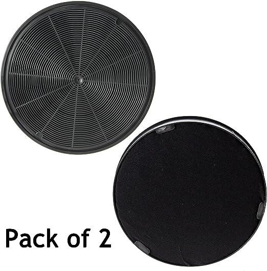 Spares2go Carbón Carbón Ventilación Filtro para Bosch cocina campana extractora (Pack de 2, 195 mm): Amazon.es: Hogar