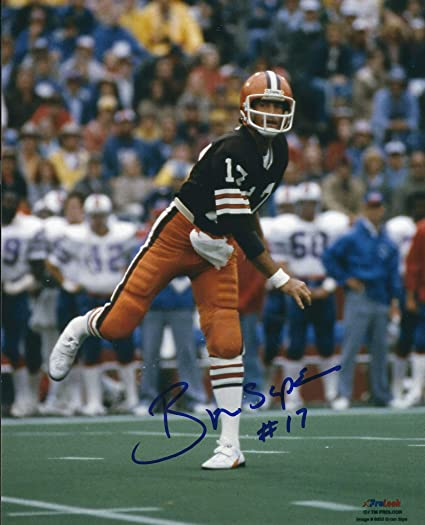 30cc881bfbc Autographed Brian Sipe 8x10 Cleveland Browns Photo with COA at Amazon's  Sports Collectibles Store