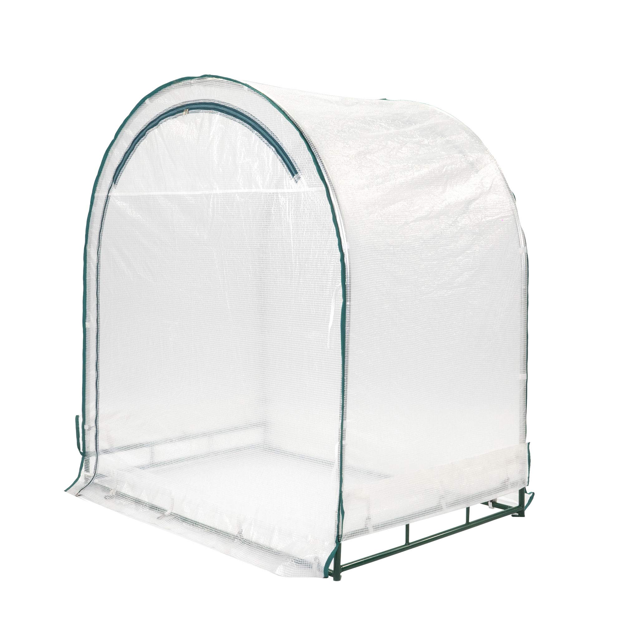 TrueShelter GH64 Portable Green House, Small, White Silver