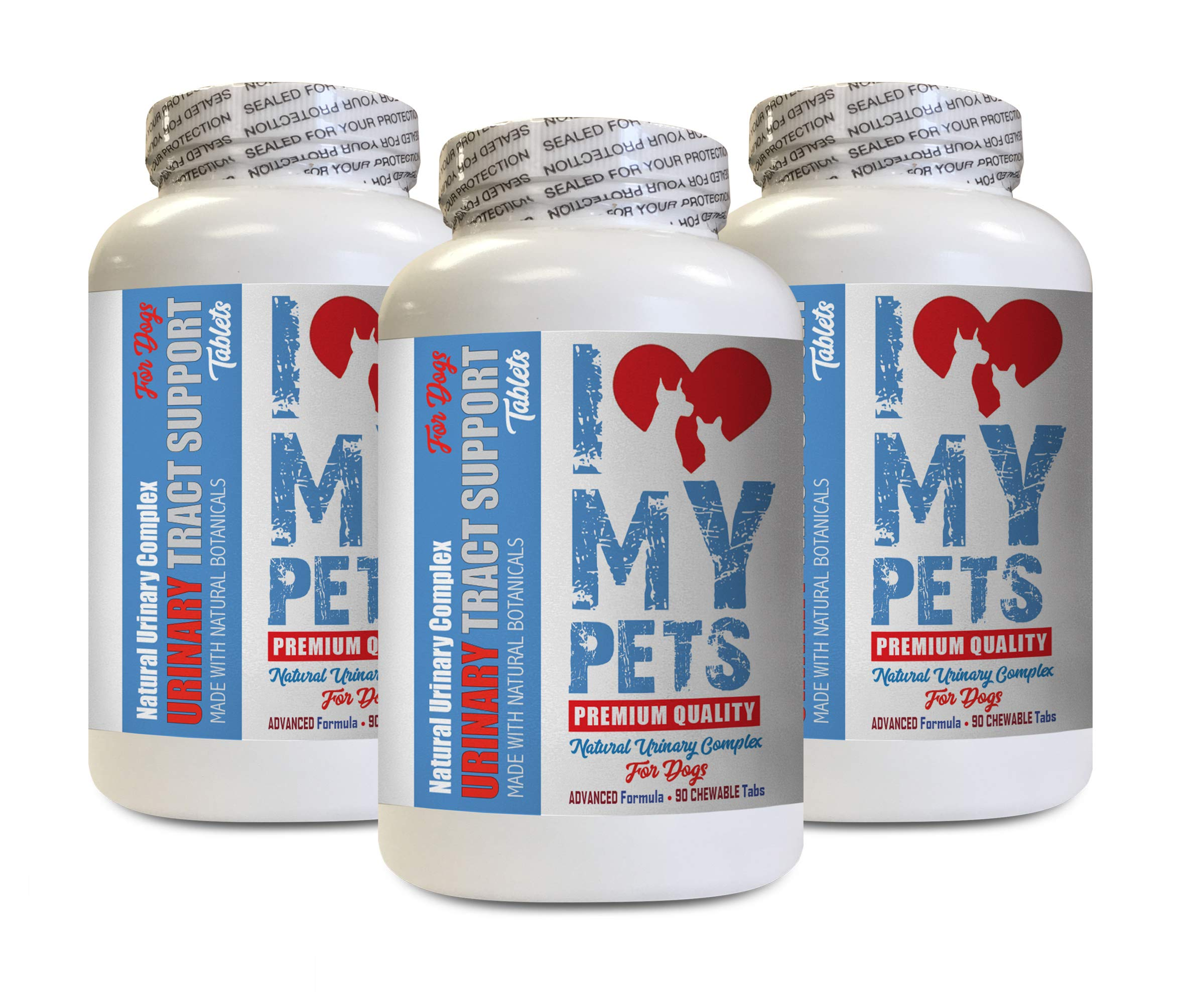I LOVE MY PETS LLC Dog Bladder Support - Dog Urinary Tract Support - UTI Relief Complex - Quality - Cranberry Dog Treats for UTI - 270 Treats (3 Bottles) by I LOVE MY PETS LLC