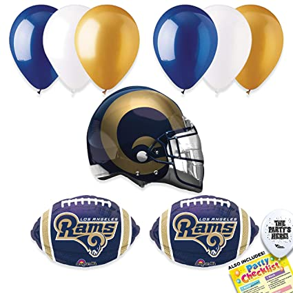 Amazon.com  Los Angeles Rams Super Bowl 53 Football NFL Sports Team Party  Supplies Decorations Balloon Kit - 10pc  Toys   Games cd1574cb0