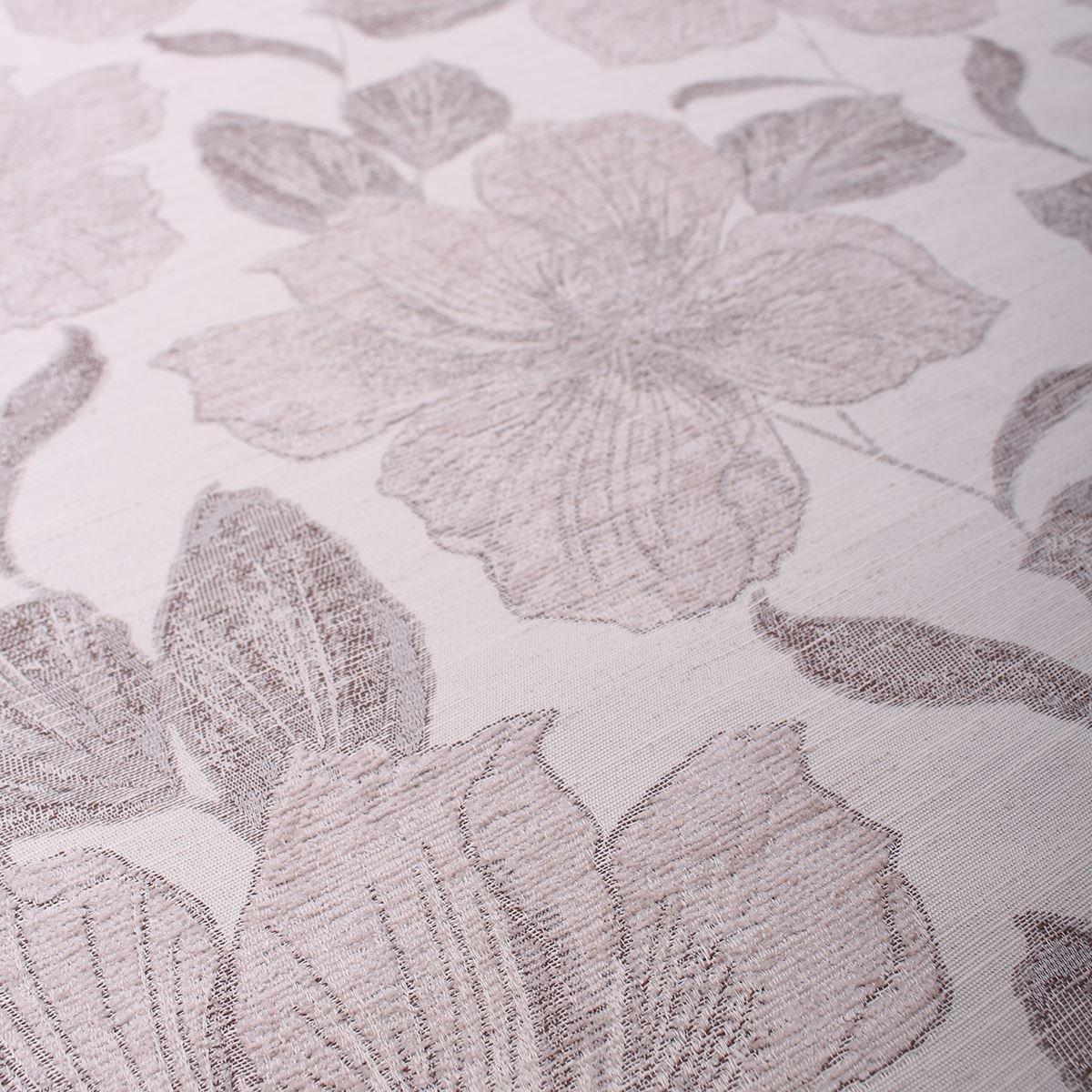 Floral Chenille Neutral Patterened Sofa Seating Upholstery Fabric