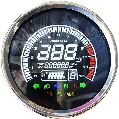 ruiruiNIE Universal Moto LCD Term/ómetro Digital Instrumento Medidor de Temperatura del Agua Medidor para KOSO Yamaha Racing Scooter