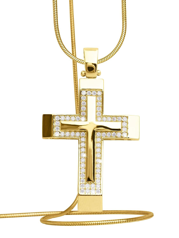 MyGold Kreuz Anhänger (Ohne Kette) Gelbgold 585 Gold (14 Karat ...