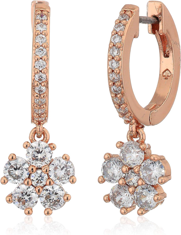 Kate Spade New York RU3014 Rose Gold Tone Cubic Zirconia Clear Crystal Earrings
