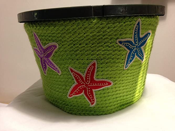 Amazon.com: Hanging Plant Pot Cover starfish gardens flowers ...