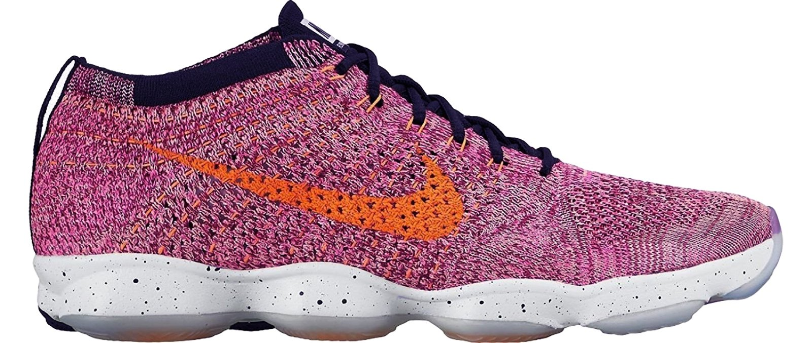 nike womens flyknit zoom agility running trainers 698616 sneakers shoes (US 9, pink power bright citrus black 602) by NIKE
